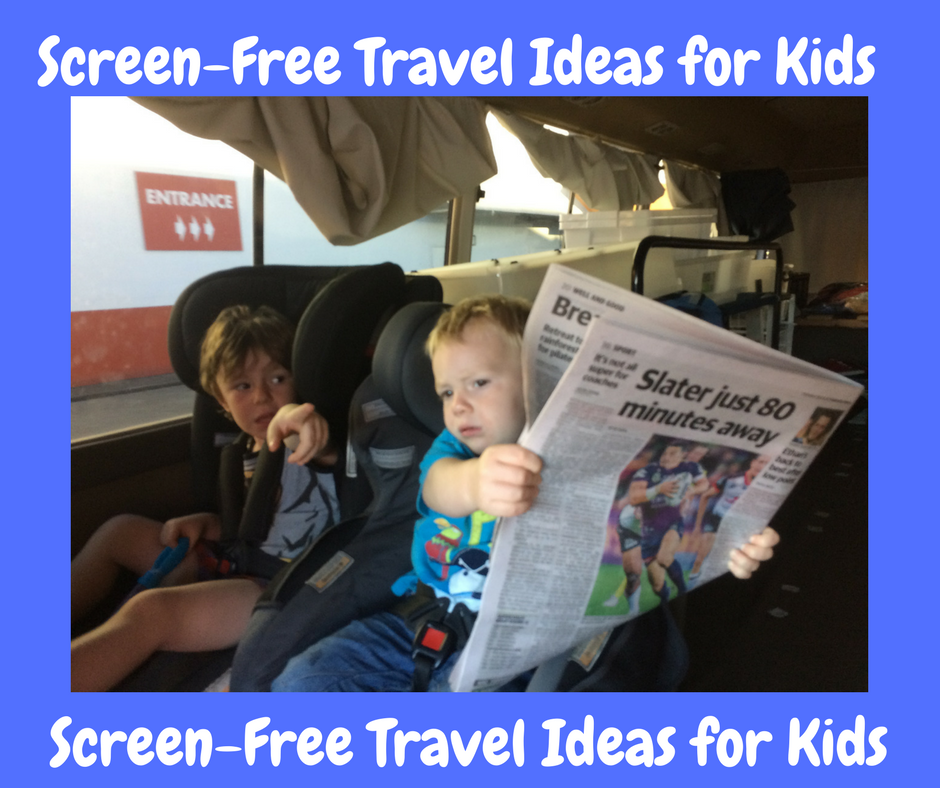 How to Entertain Kids on Long Trips – with NO screens!
